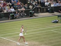 Simona Halep at Wimbledon in 2017.