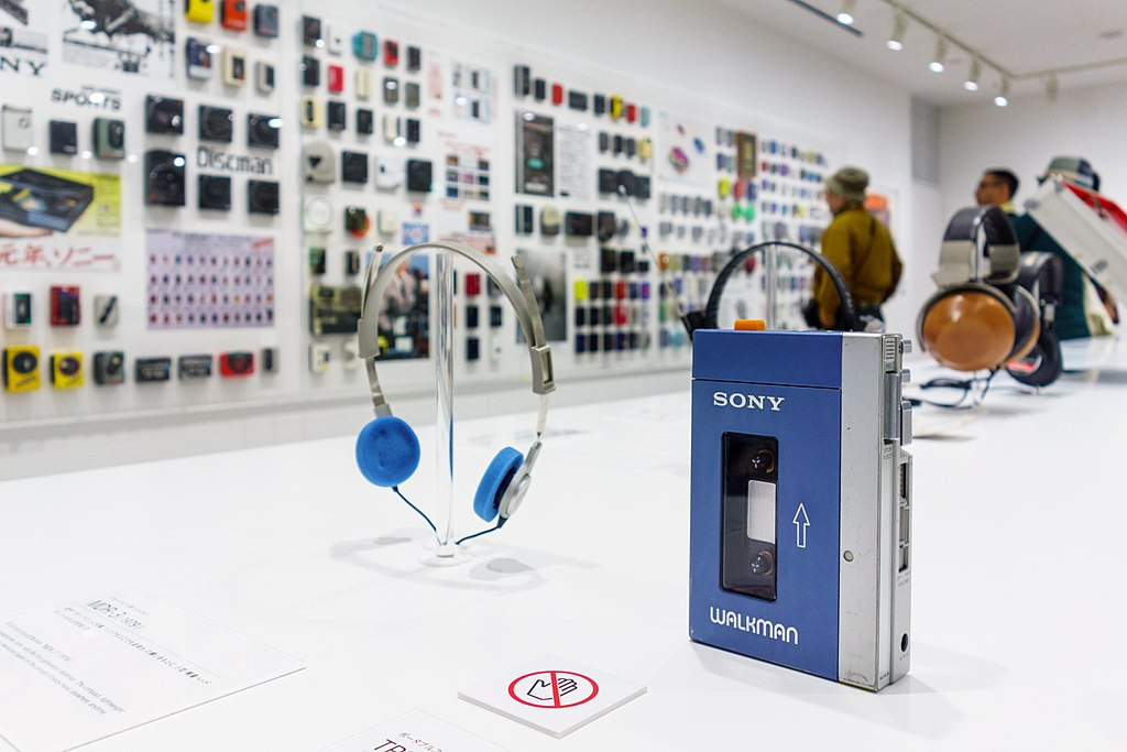 "Sony Walkman TPS-L2 at ""It's a Sony"" Expo in Sony Building at Ginza, Chuo-Ku in Tokyo."