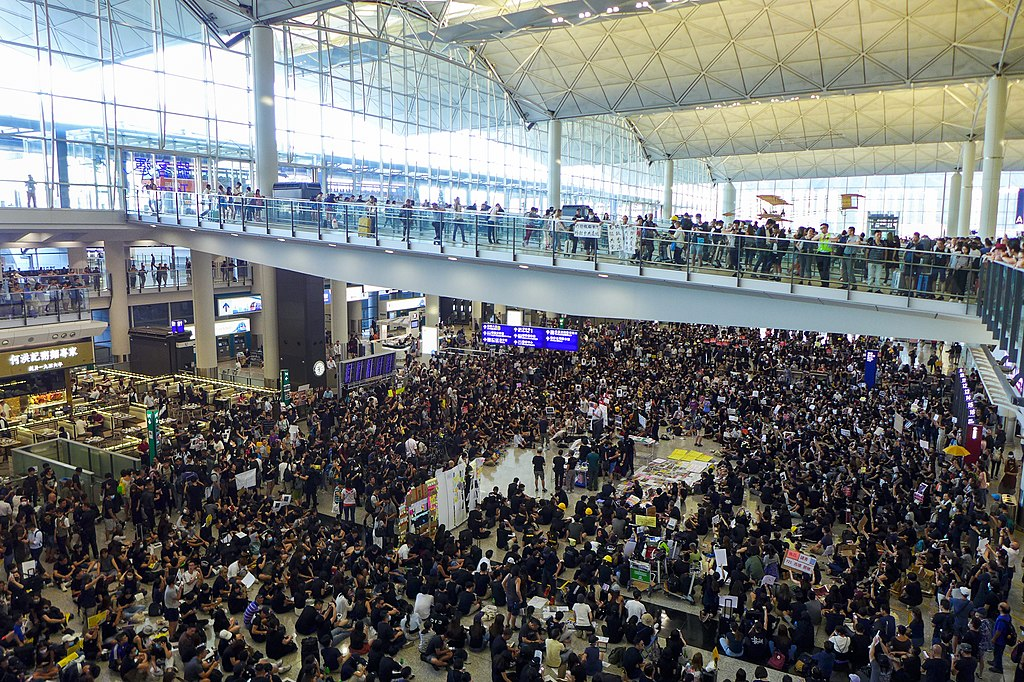 Hong Kong airport sit-in protest 2019-07-26