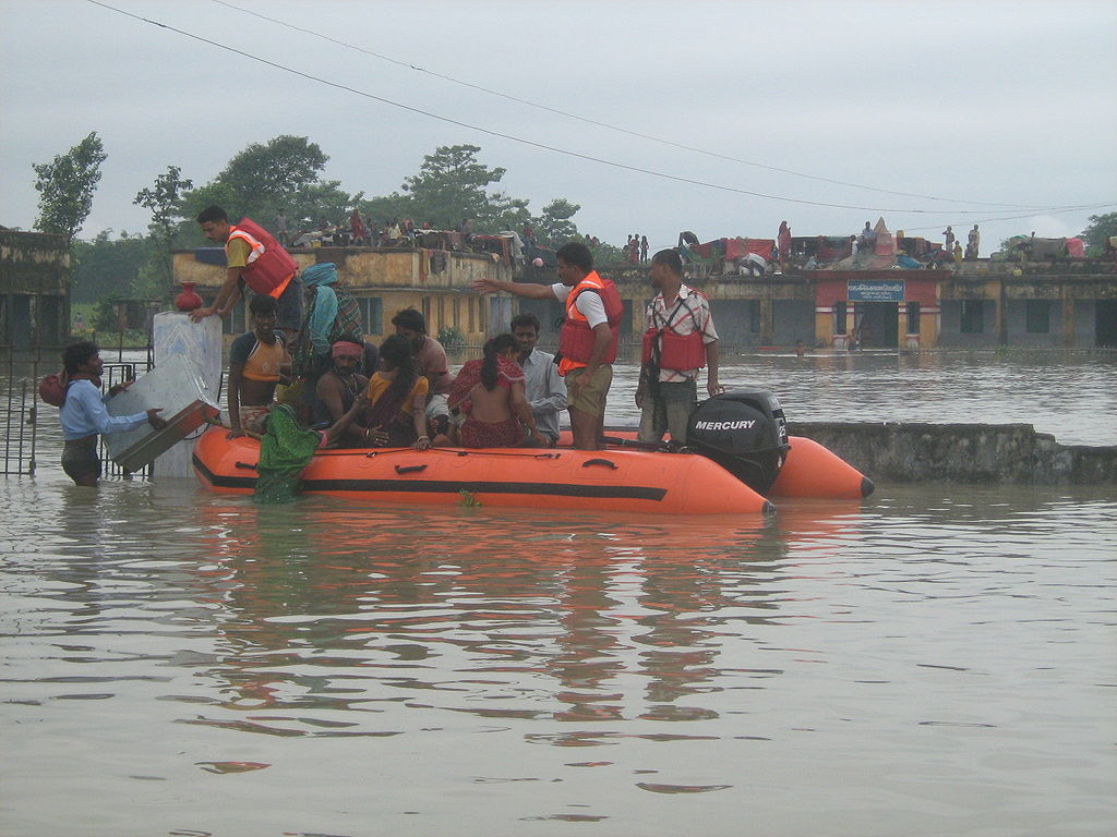 NDRF Rescue Operation during Kosi Flood Bihar