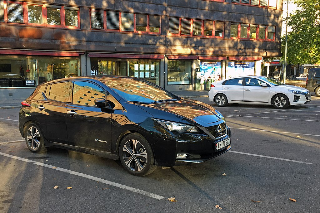 Nissan Leaf and Hyundai Ionic Electric in Oslo, Norway.