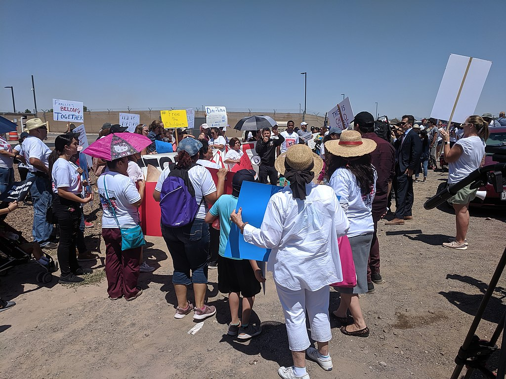 Protest against child detention outside Border Patrol facility in Clint Texas 27 JUN 19
