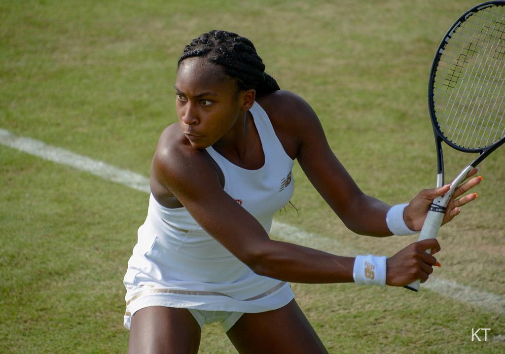 Coco Gauff - Wimbledon qualifying, Roehampton 2019.