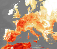 An extreme heatwave has hit Europe once again this week, following extreme weather in June. High temperatures are expected to peak today, reaching as high as 39—40°C, with Netherlands, Belgium and Germany recording their highest ever temperatures. Paris reached a sweltering 41°C, breaking its previous record in 1947.