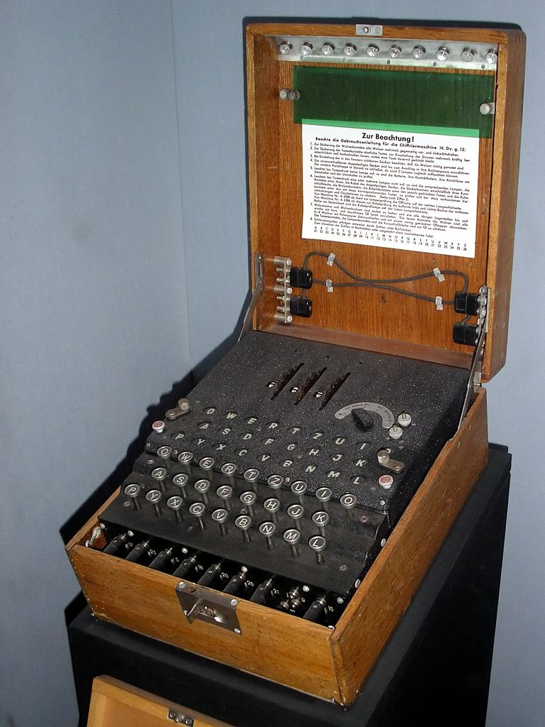 Enigma Machine at the Imperial War Museum, London.