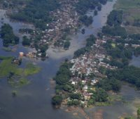Aerial survey of flooding in Bihar, India on August 26, 2017