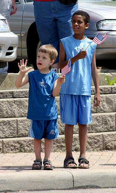 Children at a parade in North College Hill, Hamilton County, Ohio, United States of America, in May 2004.