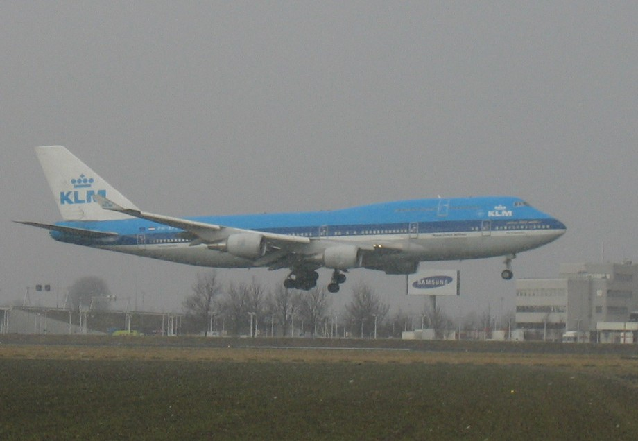KLM Boeing 747 at Schiphol, The Netherlands.