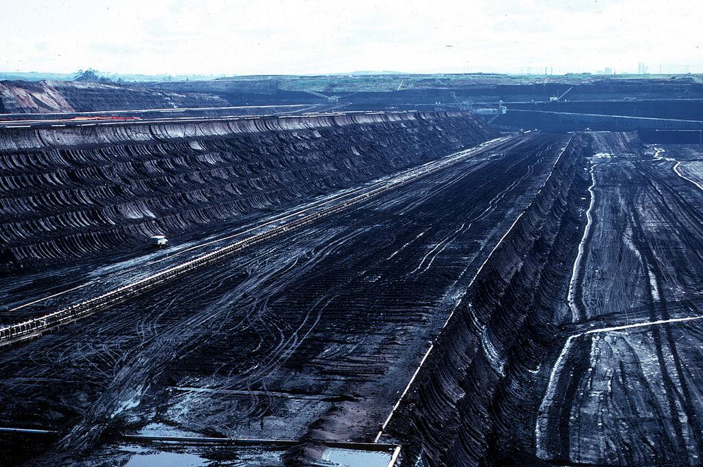 Morwell open cut coal mine, Victoria.