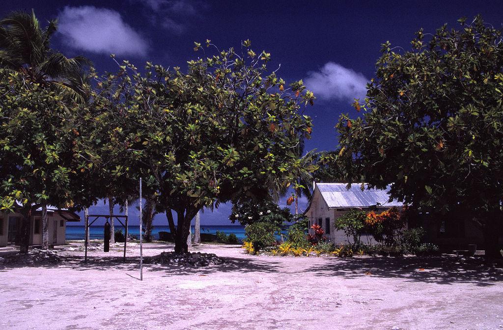 School on Funafuti Atoll, Tuvalu.