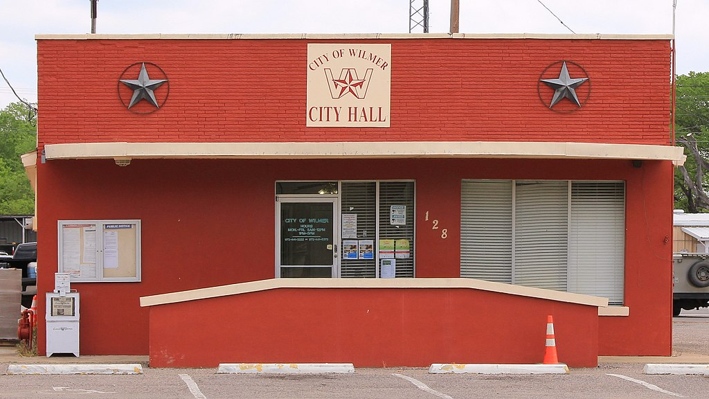 City hall in Wilmer, Texas, United States