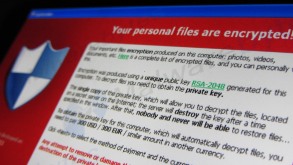 Cryptolocker ransomware This message is displayed when an user is infected with the Cryptolocker ransomware. If the user doesn't pay the 'ransom' the user's files are gone. Screen of Cryptolocker via Malwarebytes.