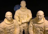 Life-size butter sculptures of the Apollo 11 space crew are featured in this year's annual butter display presented by the American Dairy Association Mideast.