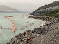 Chile's Navy has sent ships to the area and laid out floating devices to try to protect Patagonia from the oil spill.