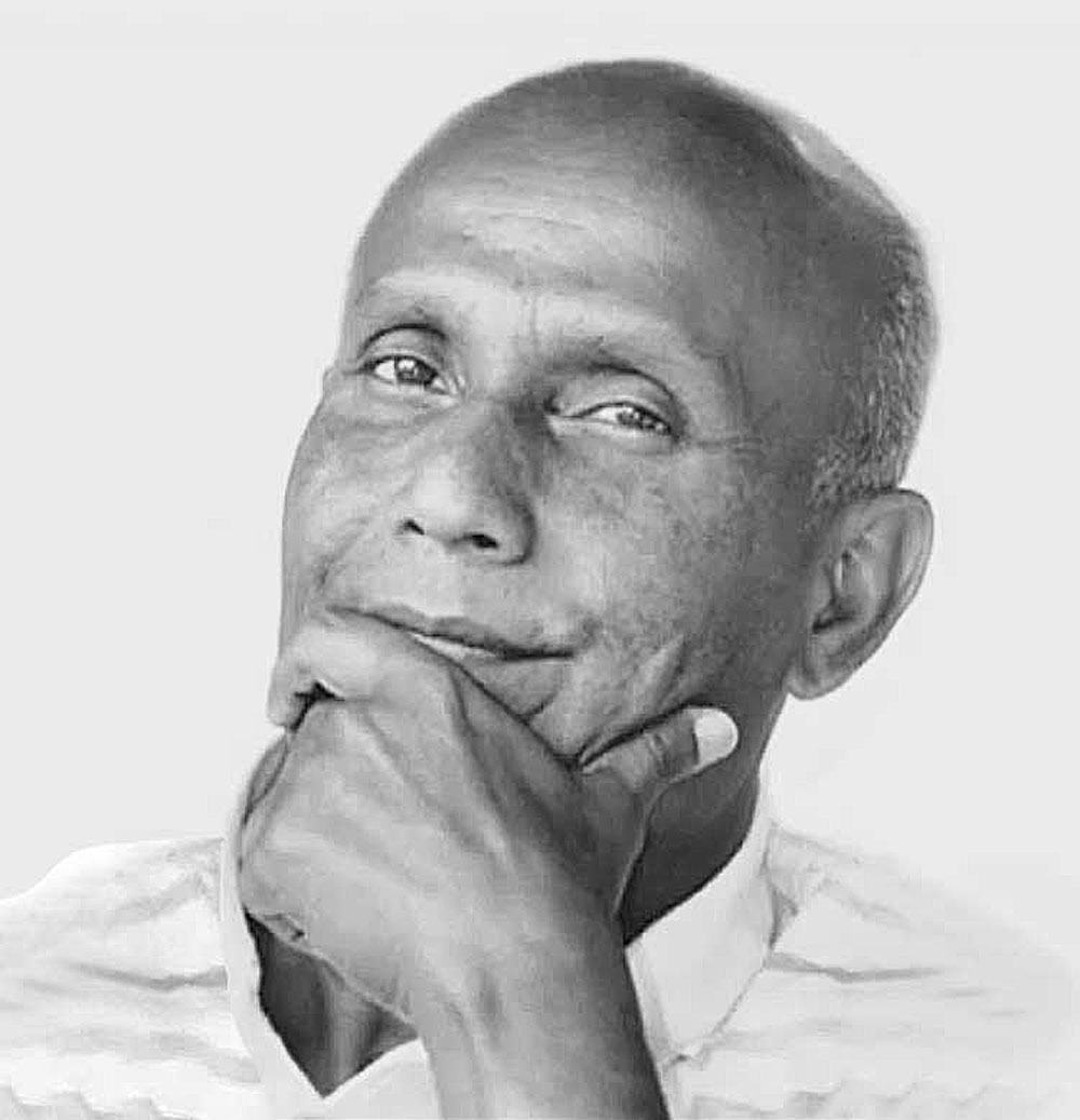 B & W Portrait of Sri Chinmoy.