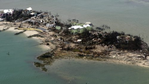 Damage in the Bahamas after Hurricane Dorian