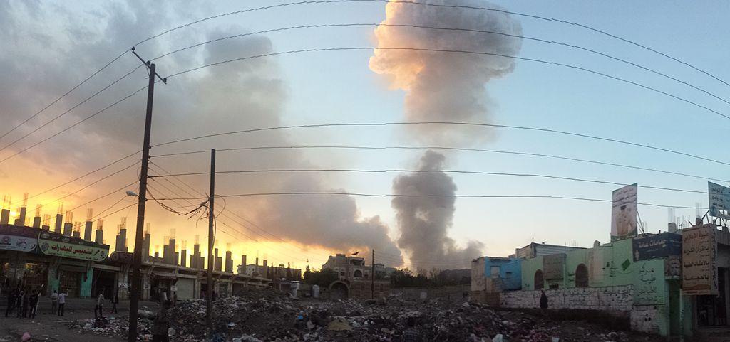 Air strike in Sana'a 11-5-2015