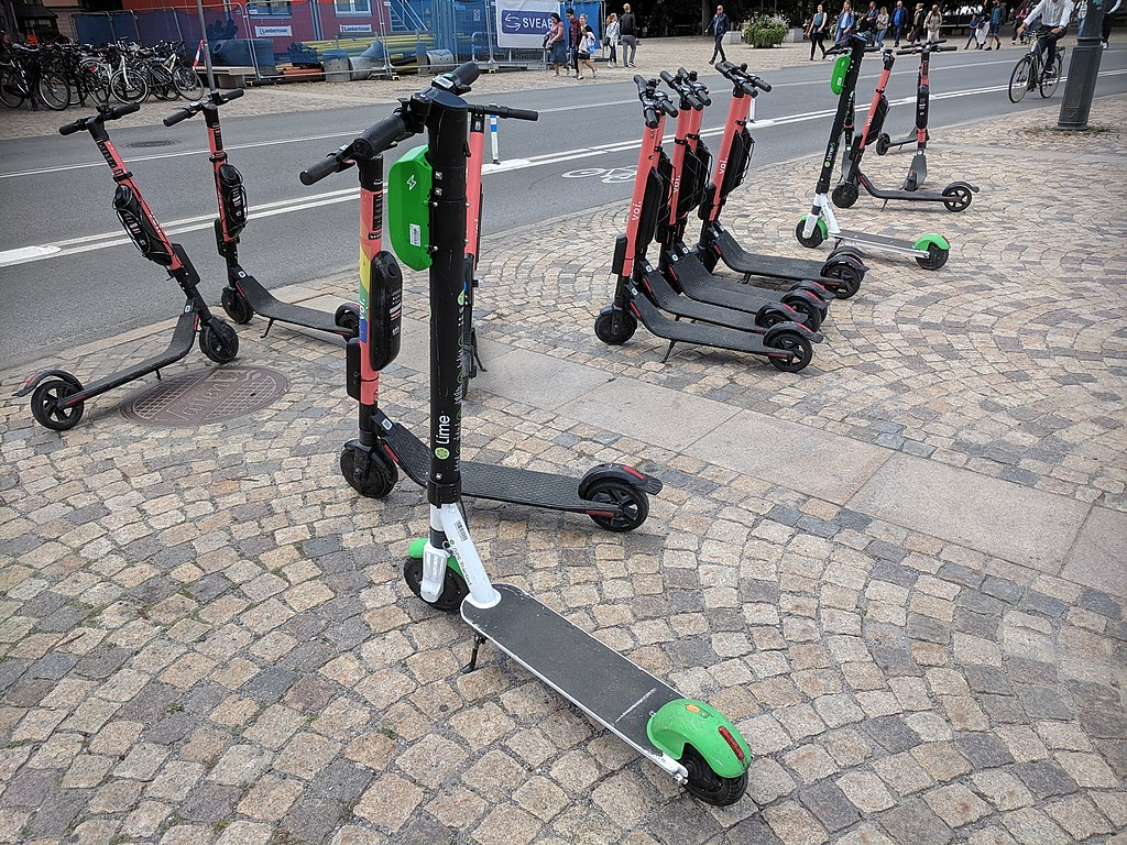 ElectroScooters in Stockholm - Lots of scooters from different makers