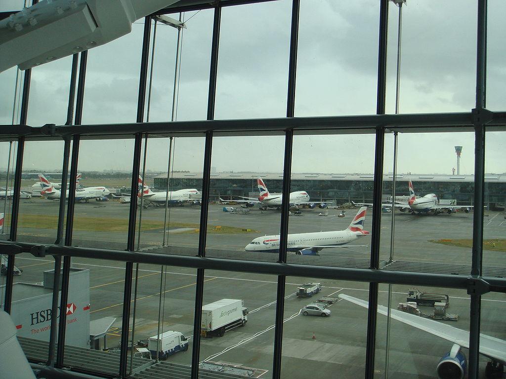 British Airways aircraft at London Heathrow's Terminal 5.