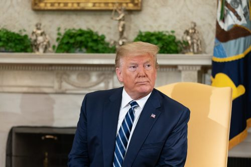 President Donald J. Trump meets with Canadian Prime Minister Justin Trudeau Thursday, June 20, 2019, in the Oval Office of the White House.