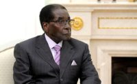 President of Zimbabwe and Chairman of the African Union Robert Mugabe.