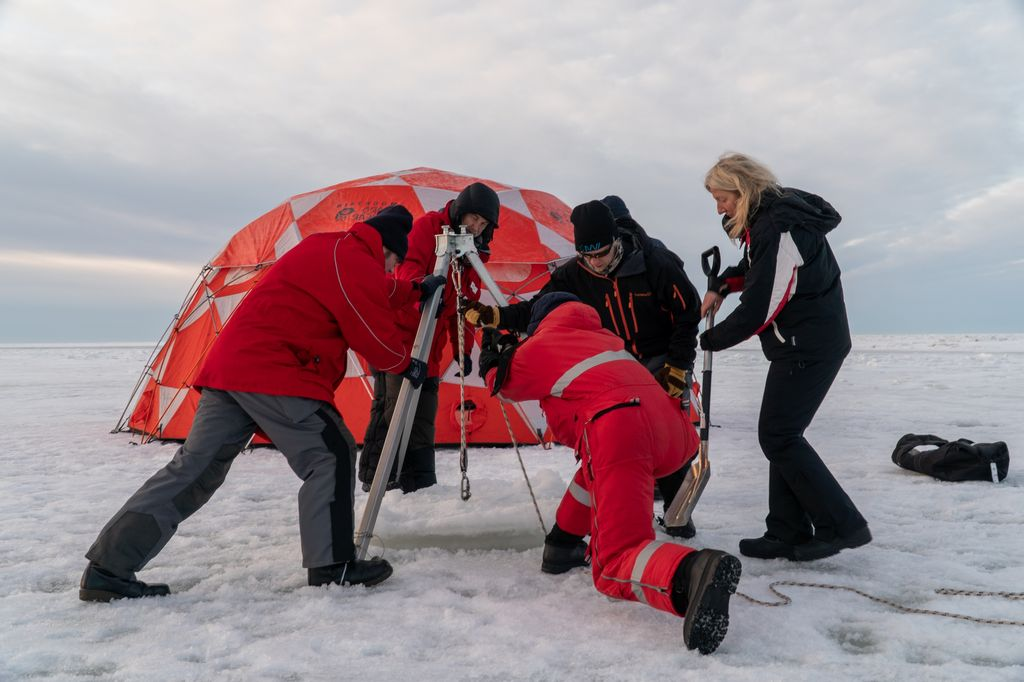 Sea and Ice Training in Finnland in preparation for the MOSAiC Expedition