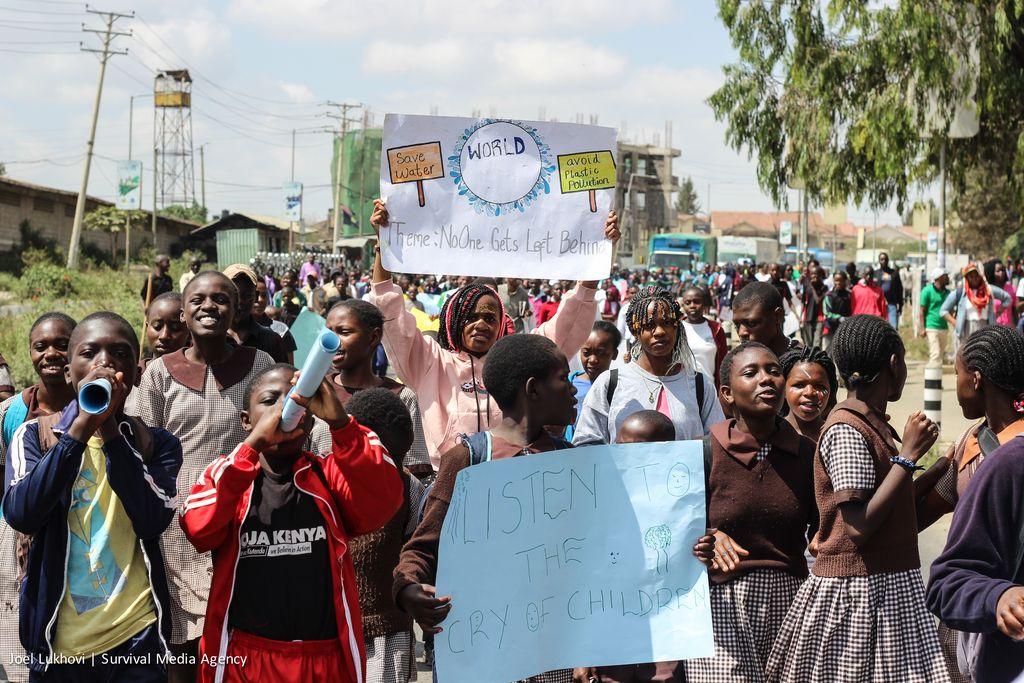 Climate protesters take action in Nairobi, Kenya on September 20, 2019.