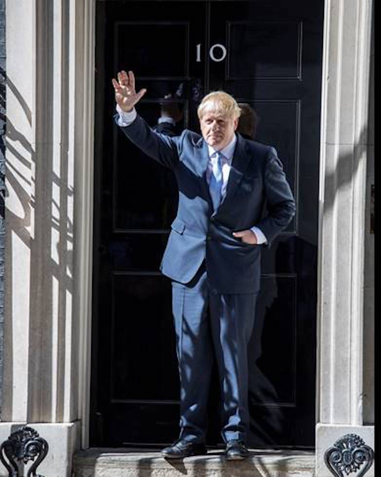 Prime Minister Boris Johnson arrives at Downing Street
