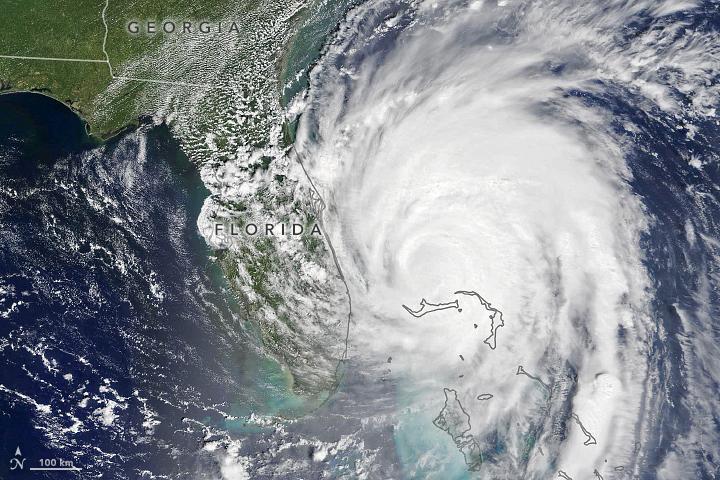 A satellite view of Hurricane Dorian taken on September 3.