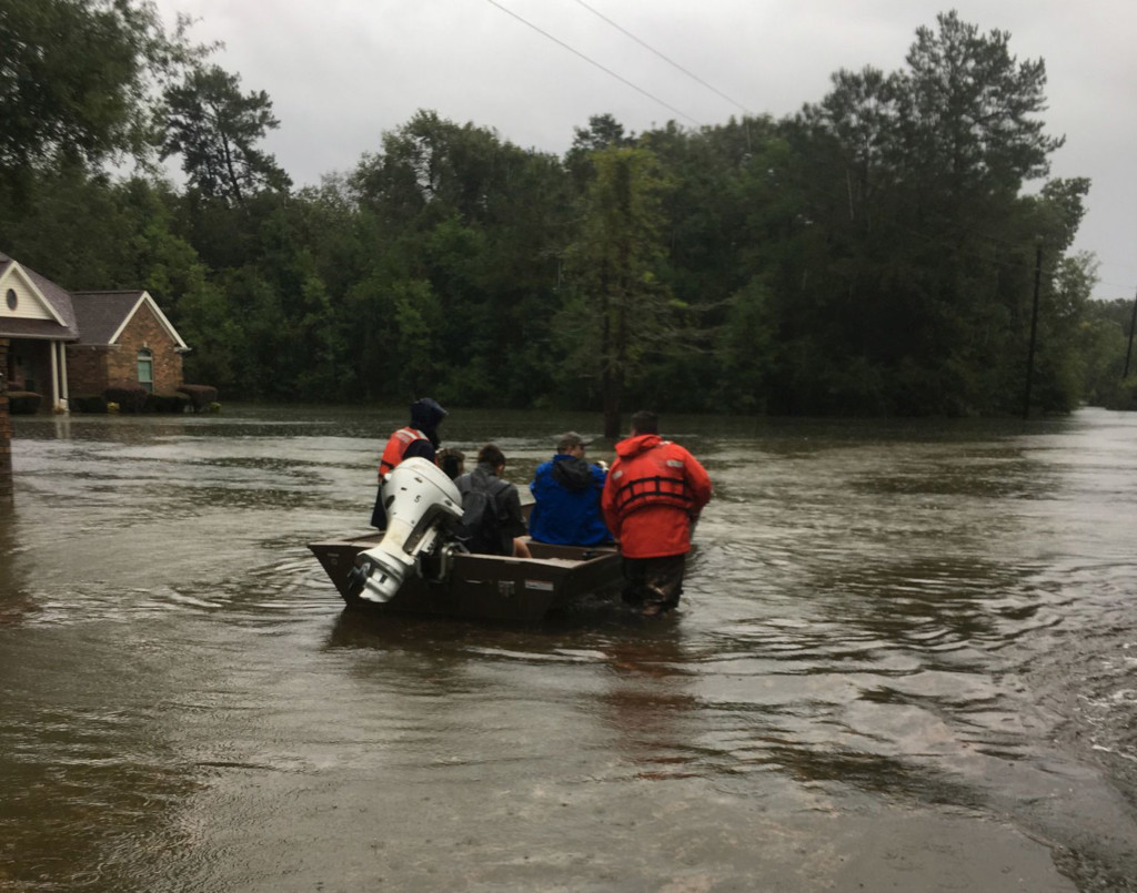Coast Guard responds to flooding near Beaumont, Texas.