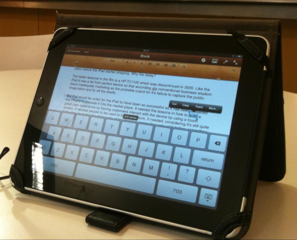iPad in case.