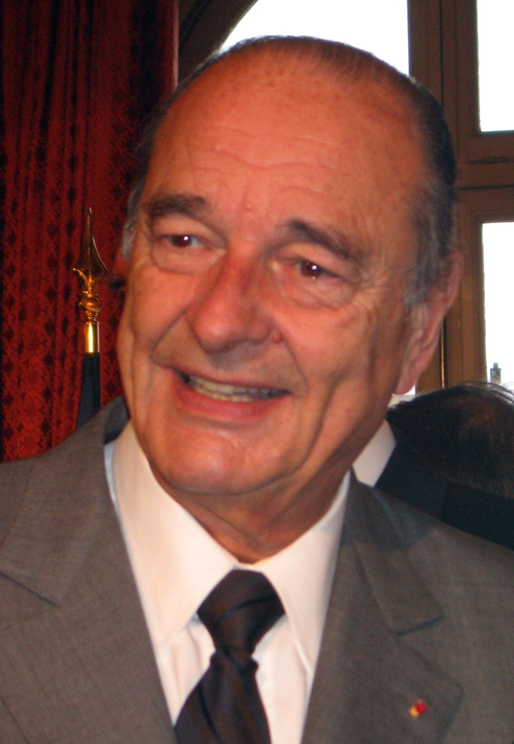 Jacques Chirac at the Palais de l'Élysée in Paris.