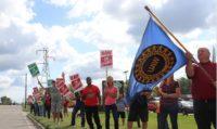 UAW Workers striking.