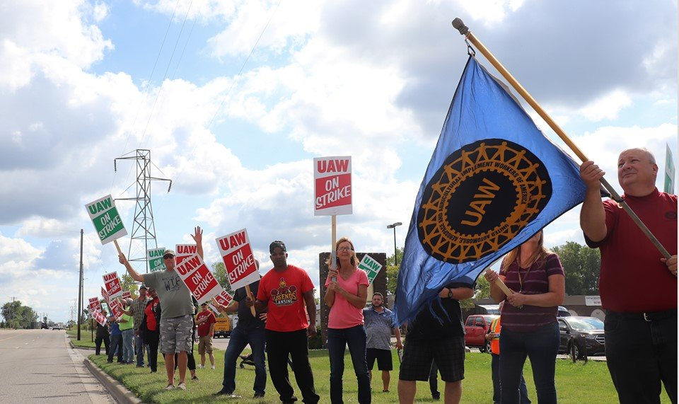 UAW Workers striking.