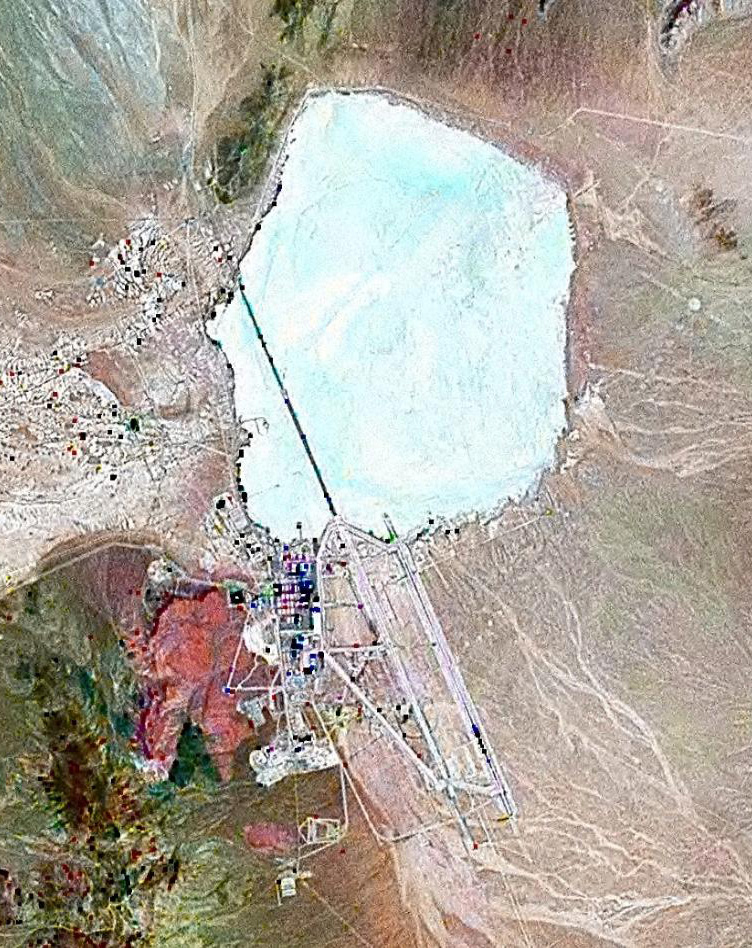Satellite image of Area 51