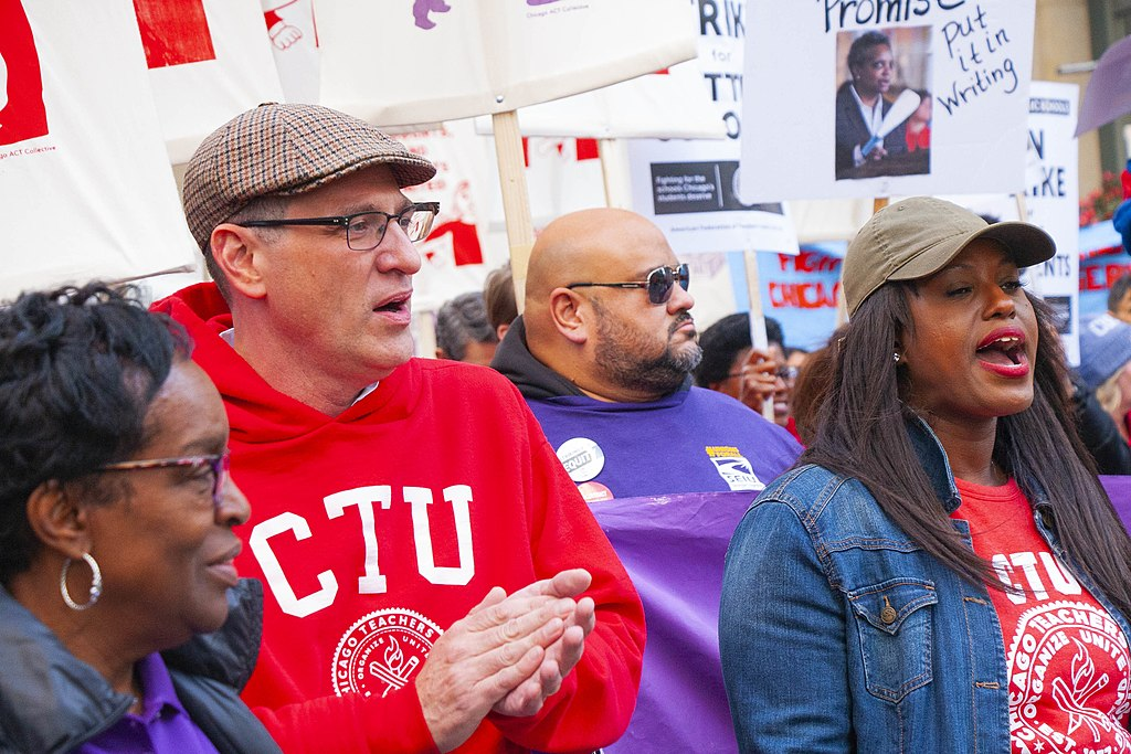 Jesse Sharkey President Chicago Teachers Union Chicago Teachers Union Rally 10-14-19_3791