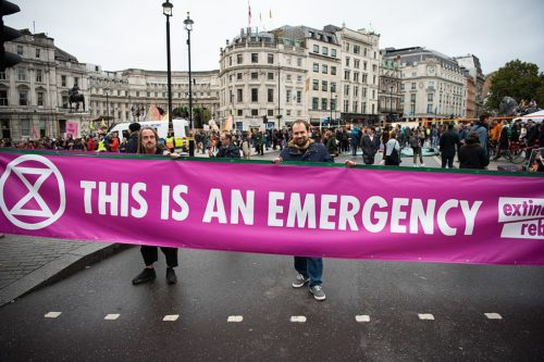 Extinction Rebellion protest in London, October 7, 2019.