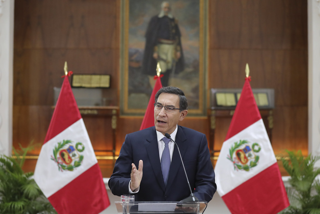 President Martín Vizcarra speaks to the nation.