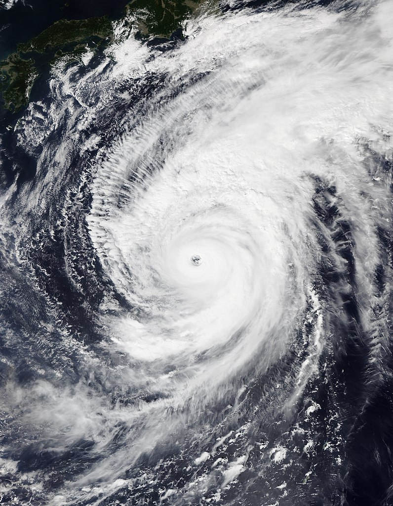 Typhoon Hagibis on October 10, 2019