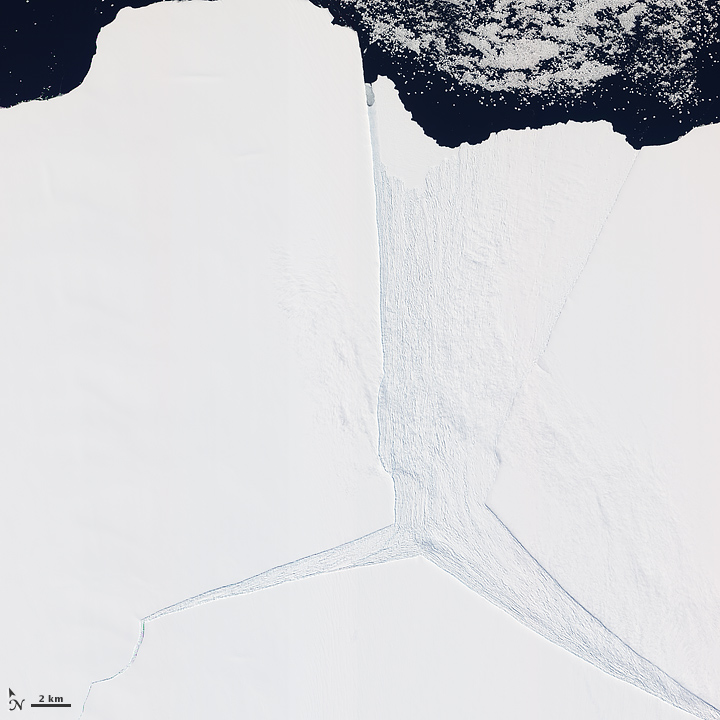 Several glaciers in East Antarctica, including the Lambert Glacier, share the same route to the ocean through the Amery Ice Shelf.