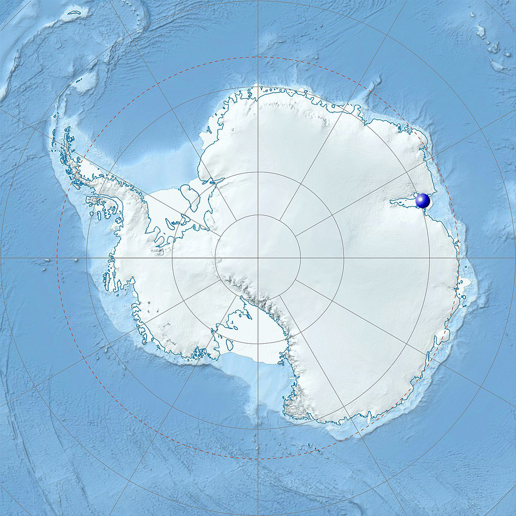 Physical Location map of Antarctica with Amery Ice Shelf marked.