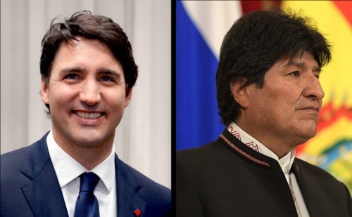 Justin Trudeau and Evo Morales