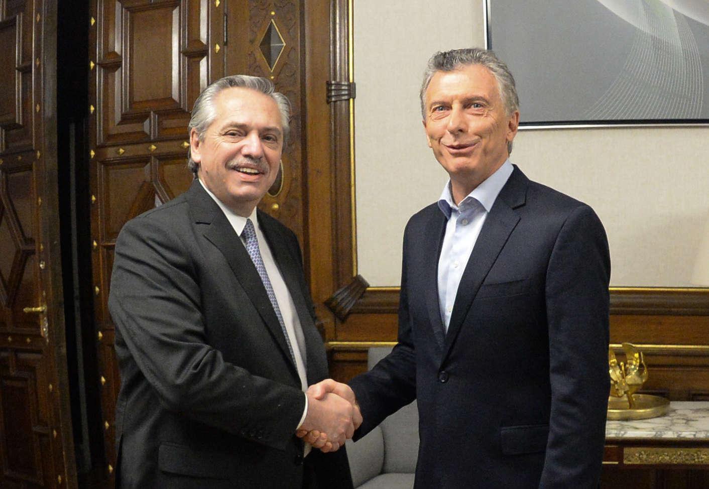 President Mauricio Macri meets with President-elect, Alberto Fernández, in the Casa Rosada.