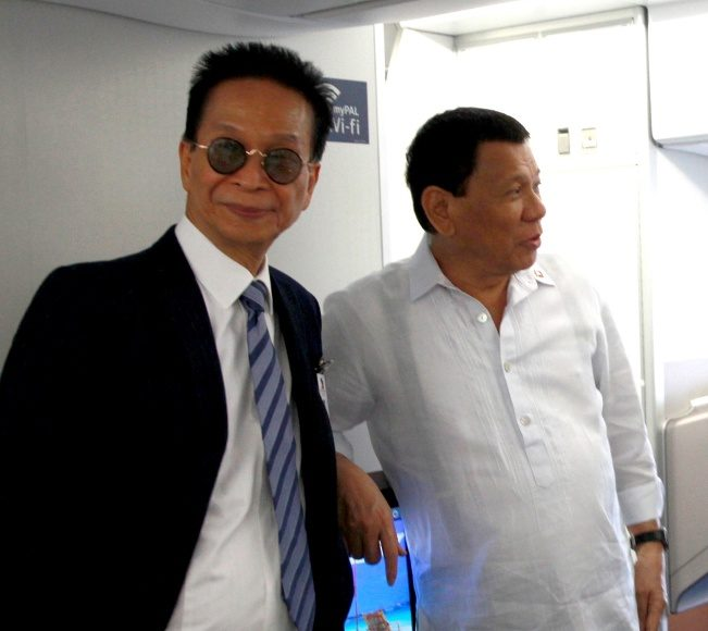 President Rodrigo Roa Duterte with Presidential Chief Legal Counsel Salvador Panelo.