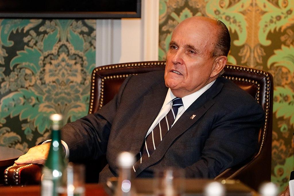 Rudy Giuliani, taken during a meeting with Brazilian President Jair Bolsonaro on September 24, 2019.: Alan Santos/PR