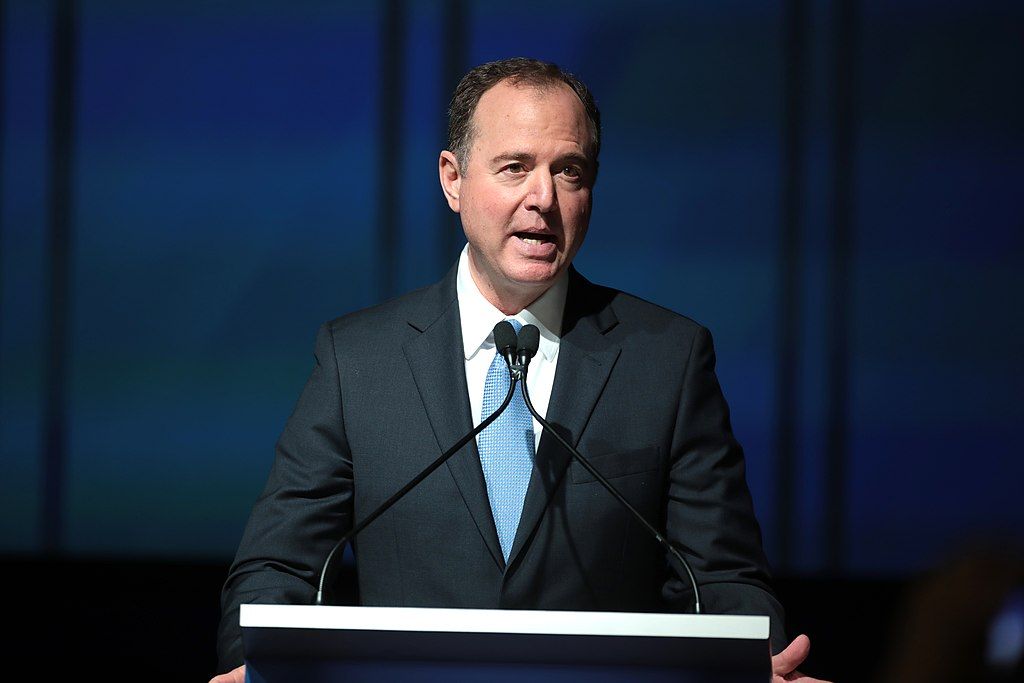 U.S. Congressman Adam Schiff speaking with attendees at the 2019 California Democratic Party State Convention