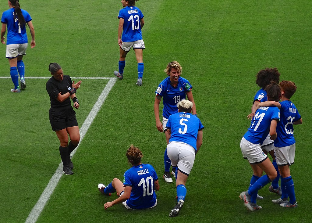 Italian National team in the Women's World Cup, France 2019.