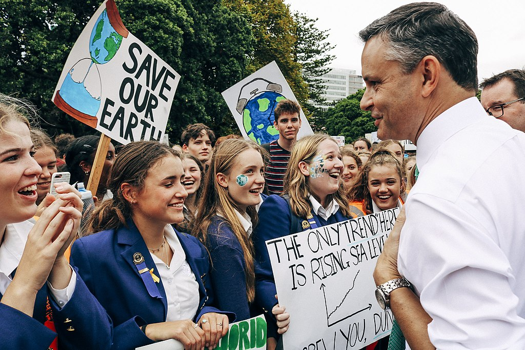 James Shaw at the School Strike for Climate Change, Wellington 2019