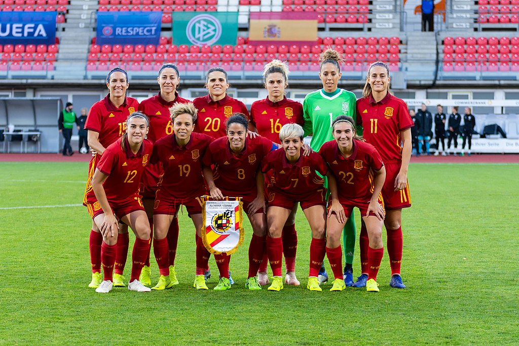 Spain women's national team vs Germany in Erfurt, November 2018