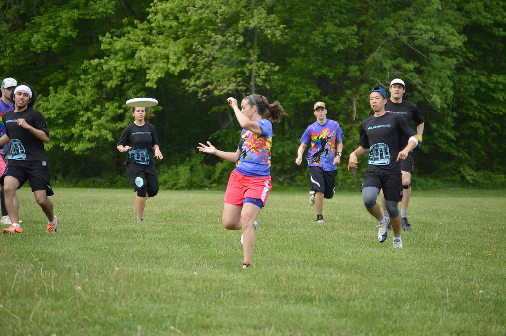 Ultimate Frisbee tournament at the Lower Perkiomen Valley Park on Saturday May 16, 2015 with teams from Phila, New York, Boston, and Washington.